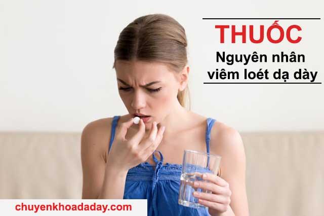 Thuốc nguyên nhân viêm loét dạ dày