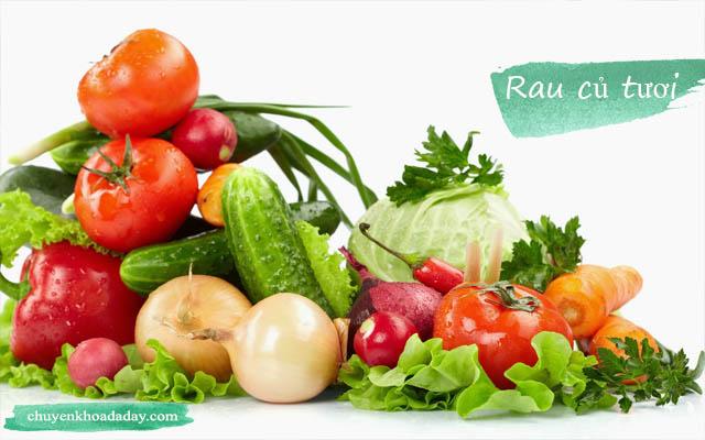 Ăn nhiều rau củ tươi có thể cải thiện tình trạng trào ngược dạ dày thực quản
