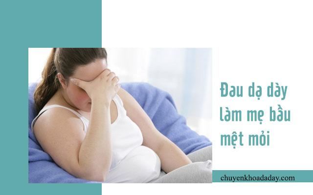 hậu quả đau dạ dày khi mang thai