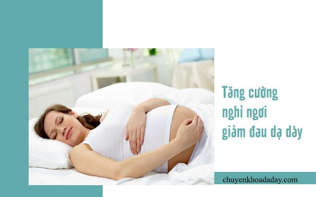 điều trị đau dạ dày khi mang thai