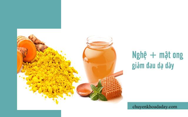 mật ong và nghệ chữa đau dạ dày