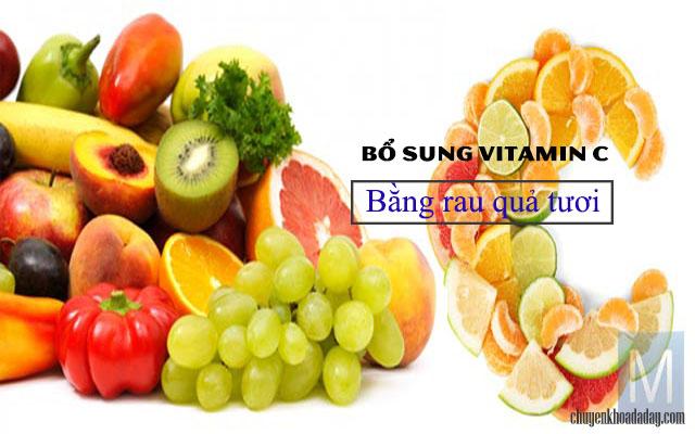 Bổ sung vitamin C hàng ngày bằng rau củ tươi
