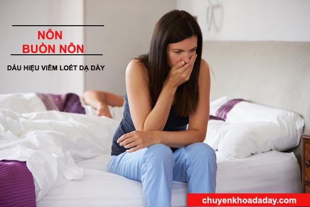 Nôn và buồn nôn dấu hiệu viêm loét dạ dày