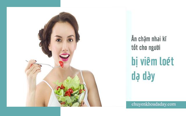 viêm loét dạ dày nên ăn