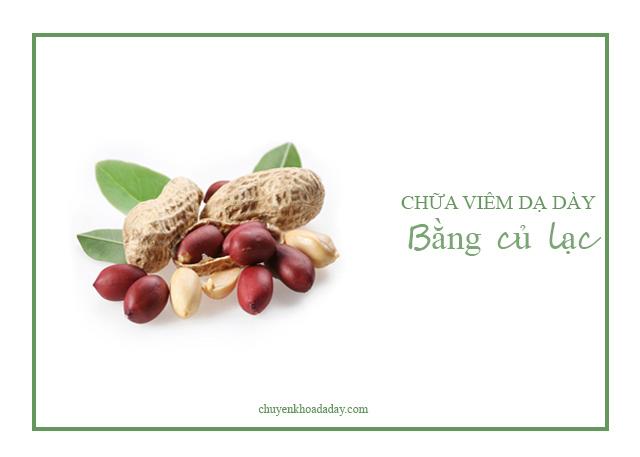 Ăn lạc thường xuyên có tác dụng chữa viêm niêm mạc dạ dày