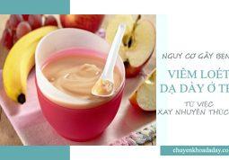 Cho trẻ ăn thức ăn xay nhuyễn gây nguy cơ mắc bệnh viêm loét dạ dày