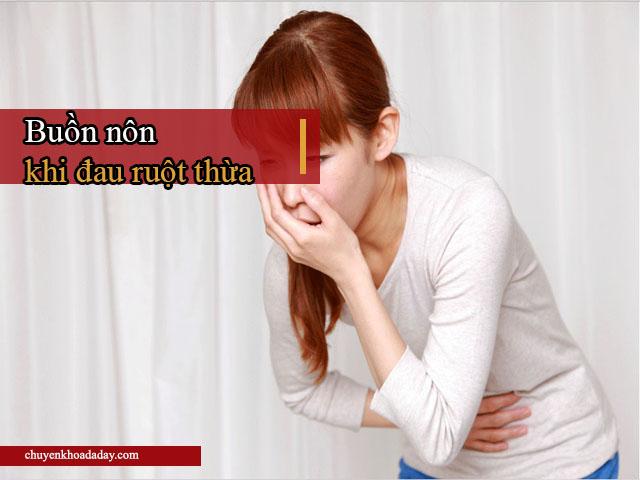 triệu chứng đau ruột thừa