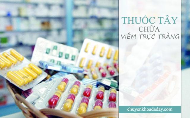 Sử dụng thuốc Tây điều trị bệnh viêm trực tràng