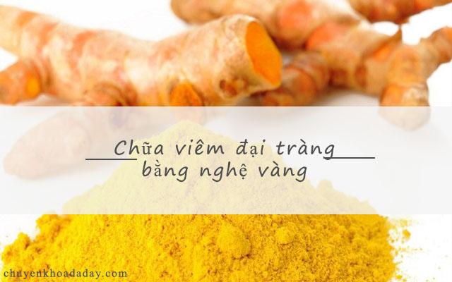 Nghệ vàng có tác dụng chữa bệnh viêm đại tràng