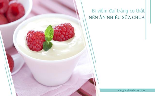 Sữa chua là loại thực phẩm tốt cho người bệnh viêm đại tràng co thắt