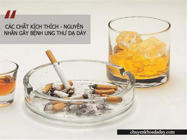 Sử dụng nhiều các loại chất kích thích làm tăng nguy cơ bị ung thư dạ dày
