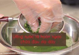 Dùng nước lá hoàn ngọc chữa đau dạ dày