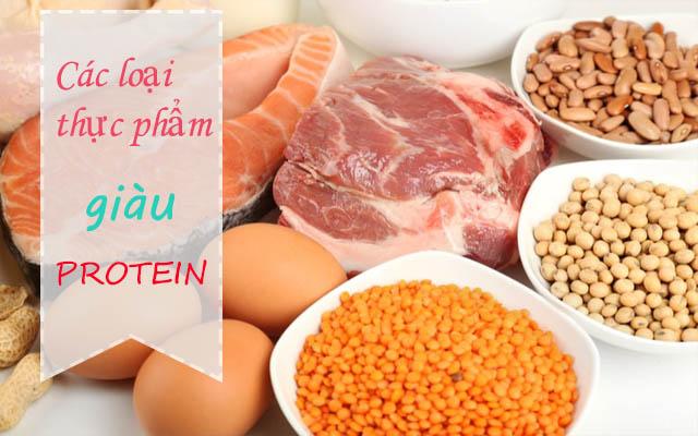 Các loại thực phẩm chứa nhiều protein tốt cho người bị ung thư dày