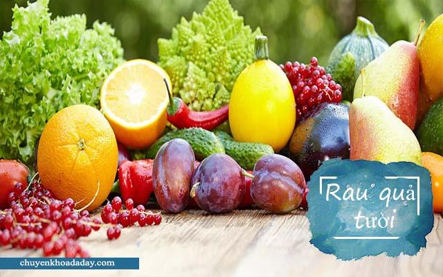 Nên ăn nhiều rau củ tươi khi bị viêm dạ dày cấp tính