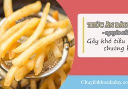 Ăn nhiều đồ ăn chứa nhiều dầu mỡ là một trong những nguyên nhân gây chướng bụng, đầy hơi