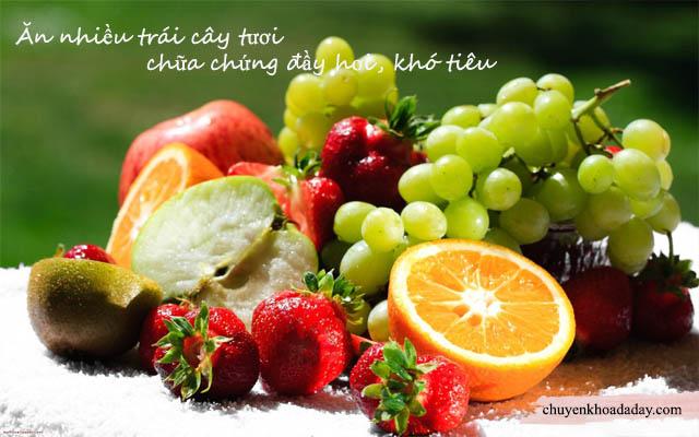Ăn nhiều trái cây tươi giúp chữa chứng đầy hơi chướng bụng hiệu quả