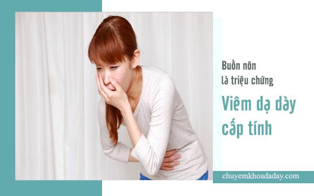 hiện tượng viêm dạ dày cấp tính