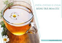 Uống trà hoa cúc thường xuyên giúp làm giảm chứng ợ chua