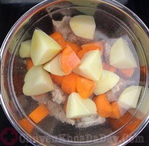 Canh khoai tây cà rốt chữa đau bụng thượng vị dạ dày