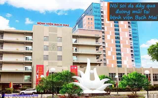 Khám nội soi dạ dày bằng đường mũi tại bệnh viện Bạch Mai