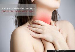 Cách chữa chứng ợ nóng trong giai đoạn mang thai