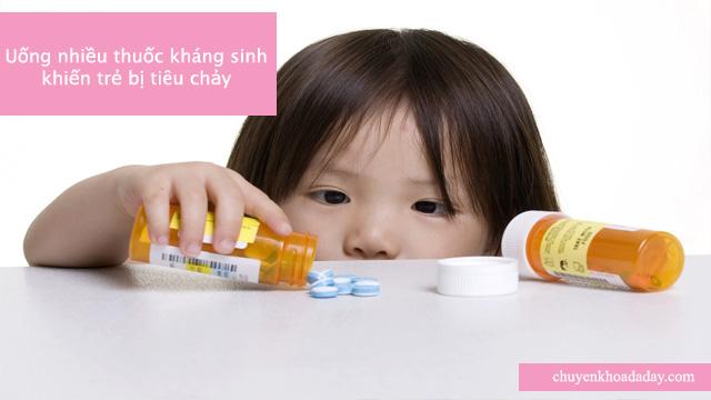 Dùng nhiều thuốc kháng sinh gây rối loạn tiêu hóa ở trẻ