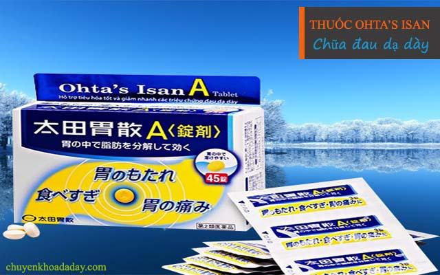 Dùng thuốc Ohta's Isan chữa đau dạ dày