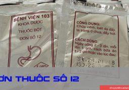 Đơn thuốc số 12 - Bệnh viện Quân y 103