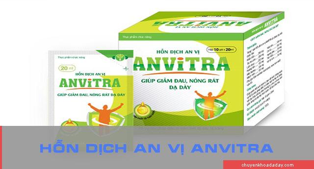 Công dụng của hỗn dịch an vị Anvitra