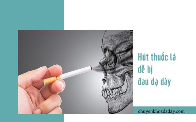 đau dạ dày do hút thuốc lá
