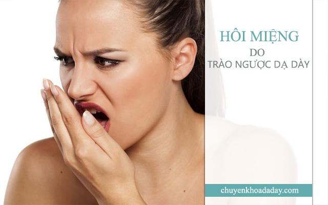 Trào ngược dạ dày gây hôi miệng