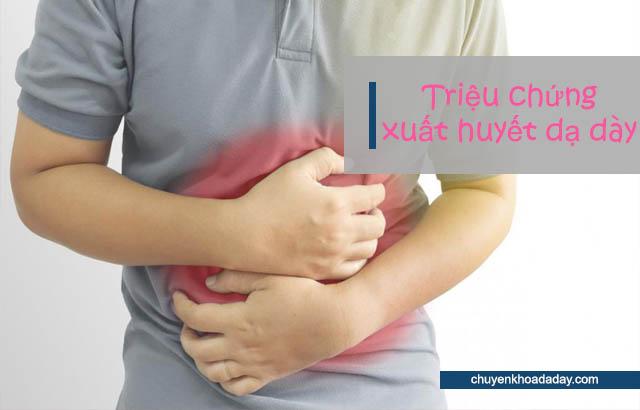 Đau thượng vị dữ dội - Triệu chứng bệnh xuất huyết dạ dày