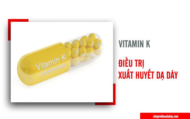 Vitamin K có tác dụng cầm máu dùng để chữa xuất huyết dạ dày