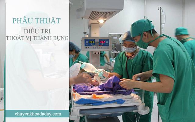 Điều trị thoát vị thành bụng ở trẻ sơ sinh bằng phẫu thuật