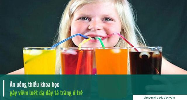 trẻ bị viêm loét dạ dày tá tràng