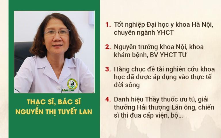 Bác sĩ Nguyễn Thị Tuyết Lan đã có hơn 40 năm gắn bó với nghề y