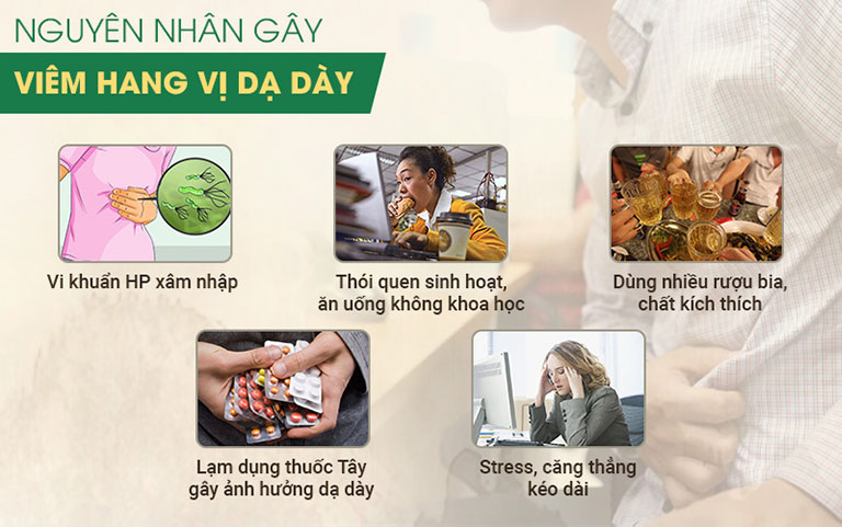 Những thói quen hàng ngày có thể dẫn đến viêm hang vị dạ dày