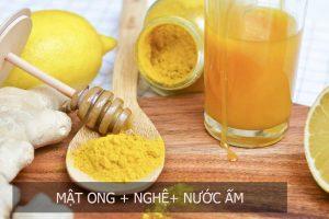 nghệ và mật ong chữa bệnh đau dạ dày