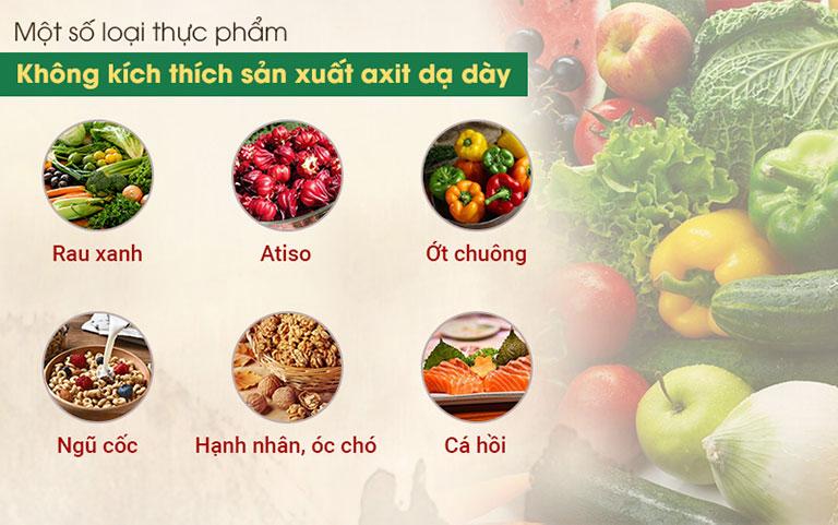 Các loại thực phẩm lành mạnh còn giúp giảm viêm trong thực quản và dạ dày