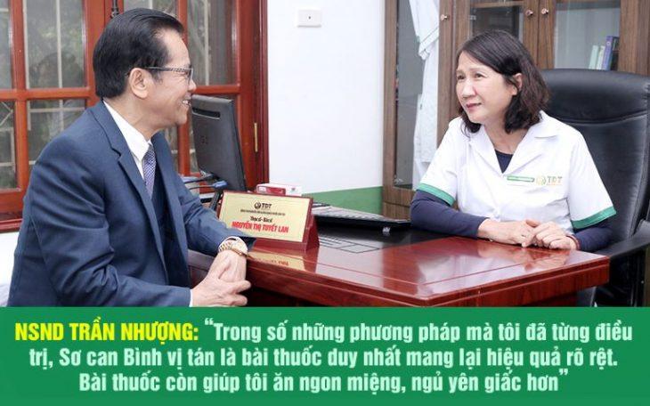 NSND Trần Nhượng và lời khen dành cho bài thuốc chữa dạ dày tại Trung tâm Thuốc dân tộc
