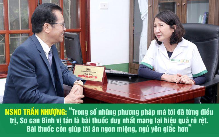 NSND Trần Nhượng là một trong những bệnh nhân đã điều trị thành công bệnh dạ dày nhờ Sơ can Bình vị tán