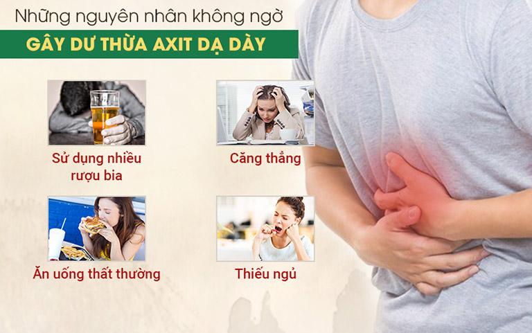 Một số nguyên nhân phổ biến dẫn đến dư axit dạ dày