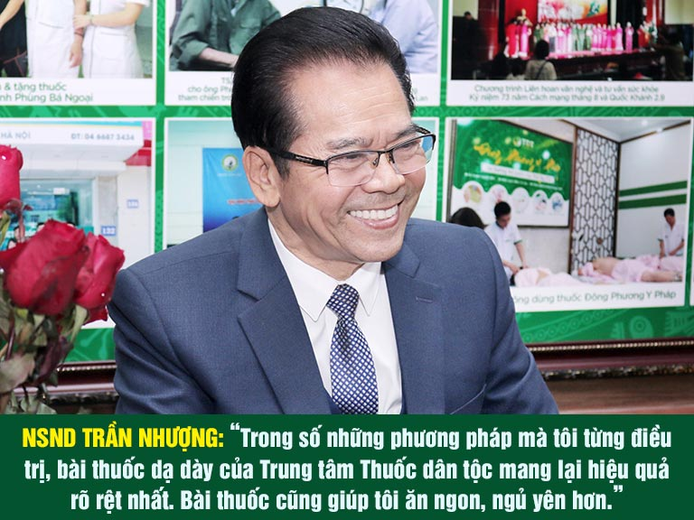 NSND Trần Nhượng chia sẻ về bài thuốc