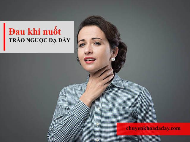 Đau khi nuốt triệu chứng trào ngược dạ dày