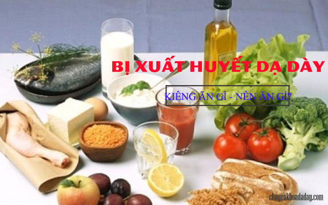 Chế độ ăn hợp lý cho người xuất huyết dạ dày