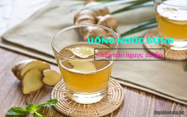 Uống nước gừng chữa trào ngược dạ dày