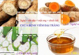 Bài thuốc từ củ nghệ vàng chữa viêm đại tràng