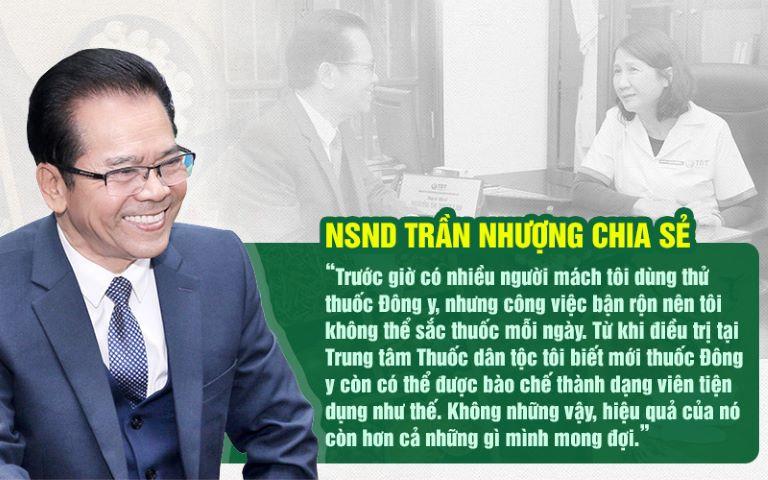 Chia sẻ cùa NSND Trần Nhượng sau khi điều trị bệnh dạ dày thành công với Sơ can Bình vị tán
