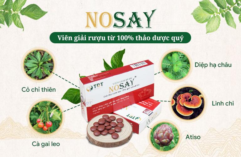 Viên giải rượu Nosay từ 100% thảo dược