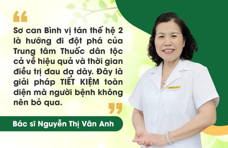 Tiến sĩ Vân Anh chia sẻ